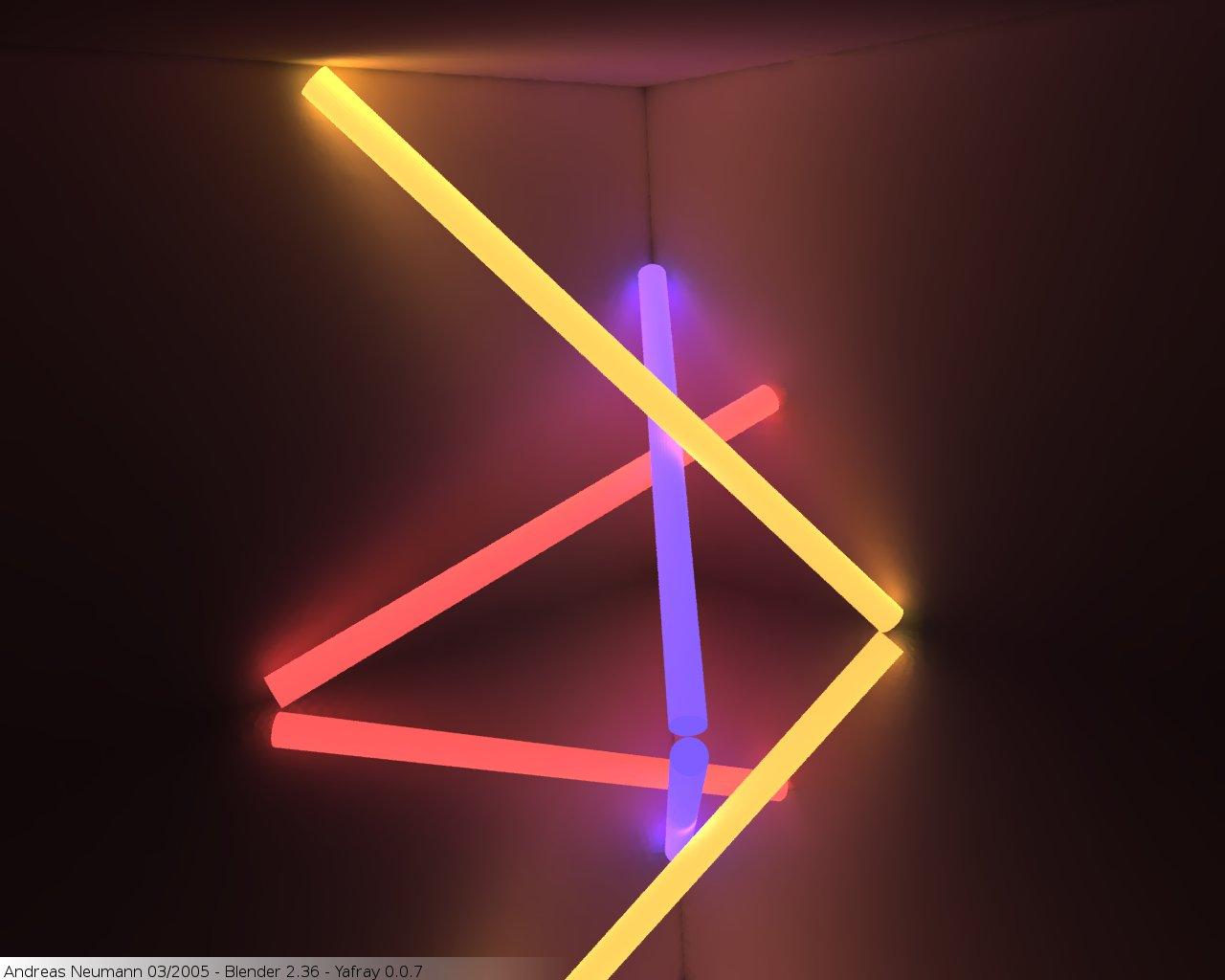 Yafray Neon Lamps
